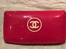 Chanel Portemonnaie Pink Lack Leder