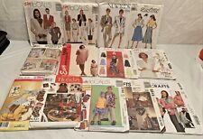 Vintage Clothing Patterns Lot Of 13 Patterns, 8 Uncut