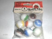 New old stock Marble King BOWLERS RAINBOW MARBLES 8 pk in Original   item 2588