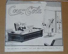 "VINTAGE COCA COLA CARTOON FROM EMPLOYEE MAGAZINE!  BERNARD COOKSON ! 11 x 12.5"""