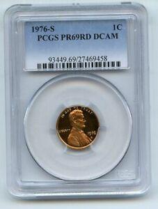 1976 S 1C Lincoln Cent Proof PCGS PR69DCAM