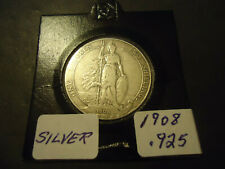 1908 RARE ENGLISH ONE FLORIN COIN  ((.925 SILVER))  >>AVOID PRICEY UK SHIPPING<<