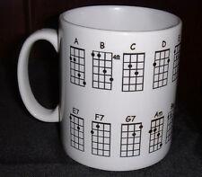 Mandolin Chord Chart Mug  pp free personalised free of charge