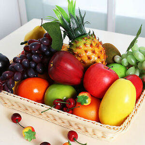 Plastic Fake Fruit Cherry Simulation Artificial Fruits Lifelike Kitchen Home Dec