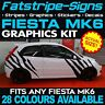 FORD FIESTA MK6 GRAPHICS TIGER STRIPES VINYL GRAPHICS DECALS STICKERS ST ZETEC