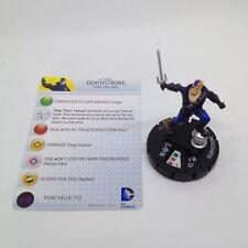 Heroclix The Flash set Deathstroke #058 Super Rare figure w/card!