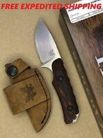 Benchmade HUNT Hidden Canyon Skinner Fixed Blade S30V Knife Wood Handle 15016-2