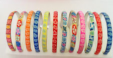 Wholesale lots 12X FIMO Polymer Clay Flower Silver Plated Metal Kids Bracelets