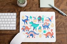Multi Coloured Dinosaurs Non Slip Mouse Mat / Mouse Pad