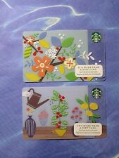 New for Sales - Starbucks Card of  2015 - Spring   ( total 2 cards )
