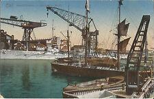 Kiel, Handelshafen, Schiff, Germania-Werft, Ak mit Marine-Feldpost von 1918
