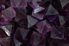 "Fluorite Octahedron 1 1/4"" Purple Healing Crystals Stones Third Eye Chakra Reiki"