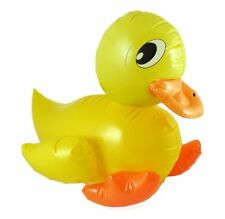 LARGE 42cm INFLATABLE DUCK BATH TOY Animal BLOW UP Baby Kids Party Decoration