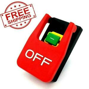 Emergency Shutoff Stop On/Off Paddle Switch 220 Volt 16A Table Saw Craftsman