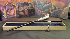 Harry Potter - Lucius Malfoy Wand w/ FREE Deathly Hallow Necklace