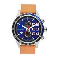 Orologio Cronografo Uomo Diesel DZ4322 Cassa Acciaio Cinturino Pelle Marrone