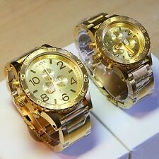 NEW NIXON 51-30, 42-20 Chrono ALL GOLD His and Hers Watch Set,5130! SALE! GIFT!