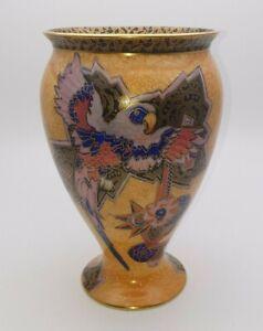 STUNNING ART DECO CROWN DEVON GILT PARROT VASE c.1930's - PERFECT