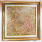 Antique French Gobelin Tapestry Fragment, Renaissance Pottery Picture Wall Decor