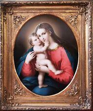 Raphael DaVinci Madonna Renaissance Italian Old Master 1800 Antique Oil Painting