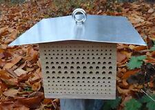 Wildbienenkinderstube WETTERFEST mit Dach - Nisthilfe für Wildbienen