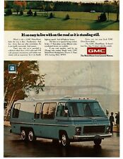 1974 GMC MotorHome Light Blue VTG PRINT AD