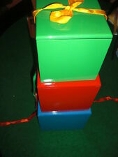 Nest of 4 Colorful Wooden boxes - Large enough for any stage