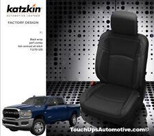 2019 21 Dodge Ram Crew Cab 2500 Big Horn Star Black Leather Seat Covers Kit