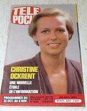 TELE POCHE  #820 28/10 1981 CHRISTINE OCKRENT WARNING MOTO AWD 500 TAUREAUX