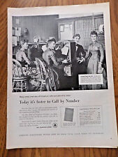1955 Bell Telephone Ad Operators Office from the Past Call by Number Not Name