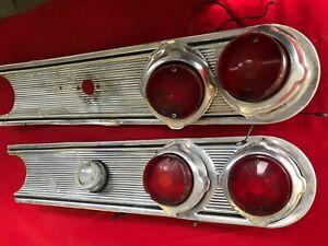 1962 62 Mercury Comet Rear Taillights & Tail Panel Trim Molding Valance Set