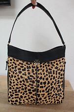 LAST 1 40% OFF NWT Tory Burch Ivy Leopard Calf Hair Black Leather Hobo Handbag