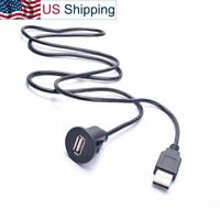 Car USB Extension Cable Dashboard Flush Mount for Radio Stereo DVD Media Player