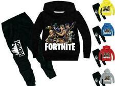 Boy Fortnite Sweater Bambini Sportswear con cappuccio Bottoms Età 3-13 Natale