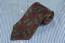 Mark Shale Men's Muted Burgundy Green & Blue Paisley Silk Necktie 58 x 3.5 in.