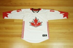 Adidas Canada Jonathan Toews White Red 2016 World Cup of Hockey Youth Size L/XL