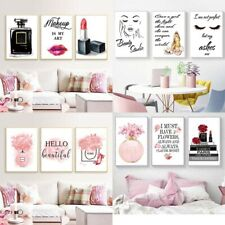 Fashion Poster Women Room Art Print Modern Makeup Dress Up Canvas Wall Painting