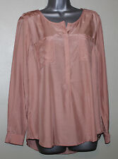 Monsoon Gorgeous Pink Silky Long Sleeves Formal Shirt in UK 12  EU 40  RRP £39