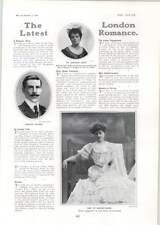1906 Baronessa Orczy Miss Ivy GORDON Lennox Mlle FRANCOISE Bernard