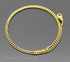 40cm 18k Yellow Gold GP Ladies Mens Girls Boys Replacement Ball Chain Necklace