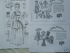 3 Sets Vintage Dolly Darling Fashion Doll Sewing Patterns fits Barbie