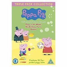Peppa Pig Triple Piggy in Middle, Birthday Party, Bubbles 3 discs Vol 4 - 6 DVD