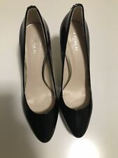 "Coach ""Giovanna"" Black Patent Leather Heels Stiletto 8.5 B"