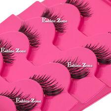 Makeup 5 pairs lot Half Mini Corner Winged False eyelashes Cute Eye Lashes Set