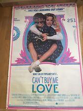 AMANDA PETERSON Autographed  CAN'T BUT ME LOVE Poster 1987 Patrick Dempsey 26x40