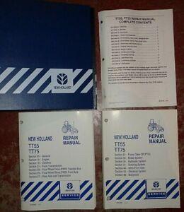 New Holland TT55 TT75 Tractor Service Repair Shop Manual VERY GOOD ORIGINAL! NH