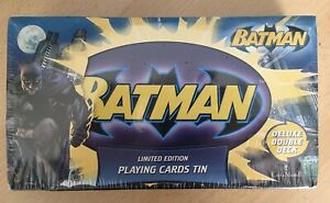 Batman Limited Edition Playing Cards Tin Collector's Double Deck SEALED