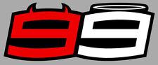 NUMERO 99 COURSE RACING NUMBER MOTO GP LORENZO ANGE DEMON STICKER LA104