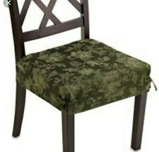 Holiday Joy Dining Room Dear Covers Olive Green Poinsettia Set Of 2