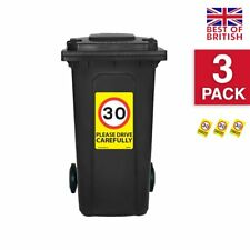 30 Mph Speed Signs [3 X Pack] - A4 Vinyl Stickers, Yellow Background Ideal Fo...